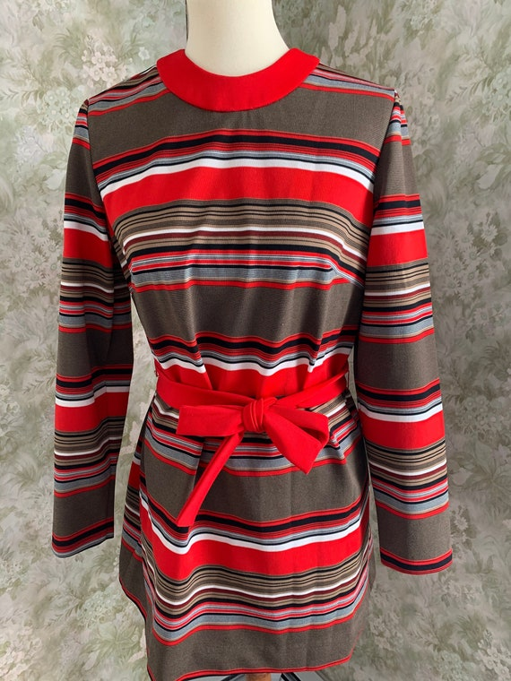 Vintage Koret of California Striped Dress - Women'