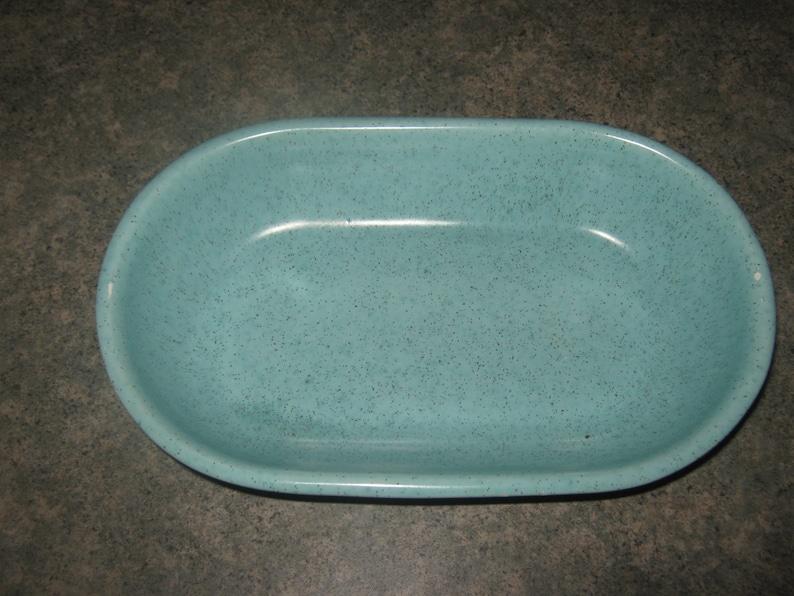 Vintage Robin Egg Blue Speckled Dish  Vintage blue bowl
