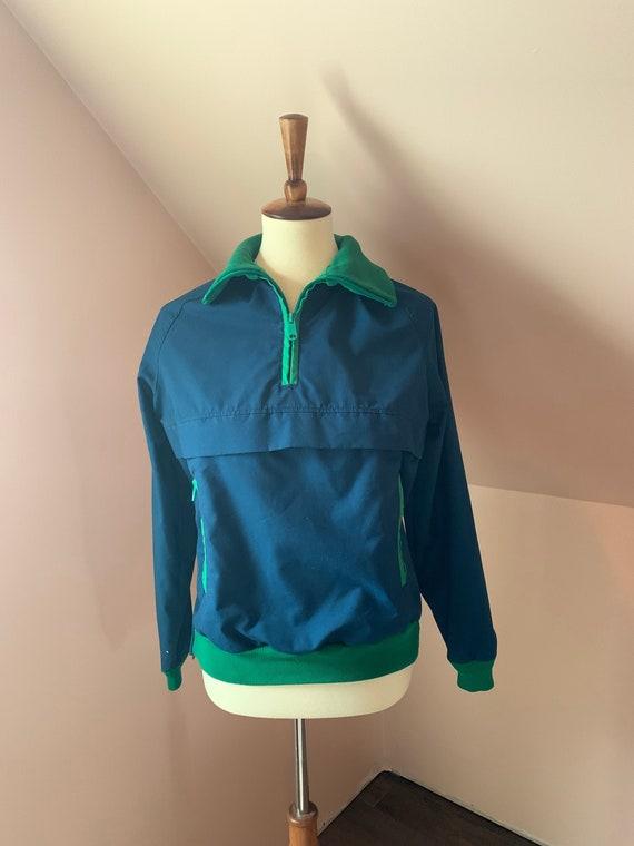 Women's vintage 1980s track jacket / Woolrich gree