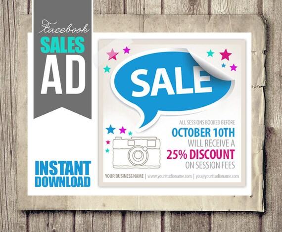 Facebook Verkauf Anzeige für Fotografen Verkauf Werbung