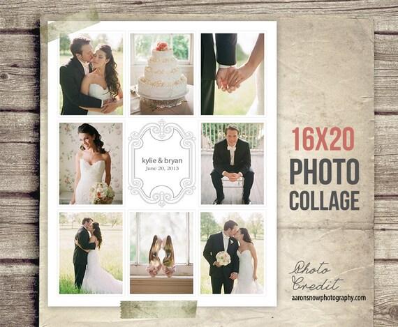 wedding collage blog board wedding photo collage poster etsy