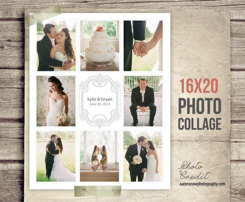 Wedding Collage Blog Board Wedding Photo Collage Poster