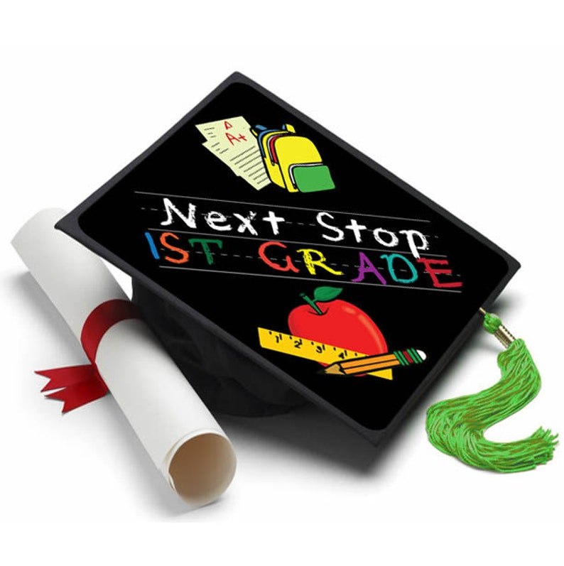Next Stop First Grade Decorated Grad Cap Decorating Kit Etsy