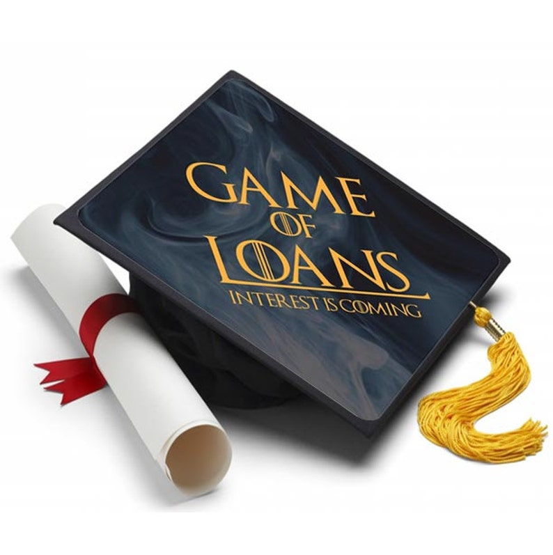 Game Of Loans Decorated Grad Cap Decorating Kit Ideas For Etsy