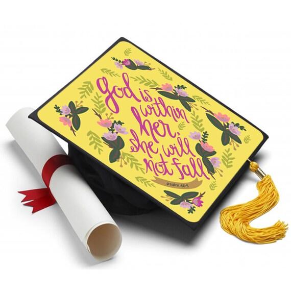 Yellow Graduation Cap Decoration