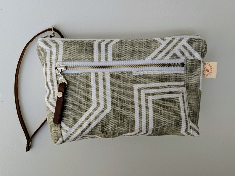 d448d658b47 Zippered Wristlet Clutch Makeup bag Geometric Print Simple | Etsy