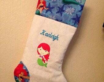 Personalized Disney Princess Christmas Stocking