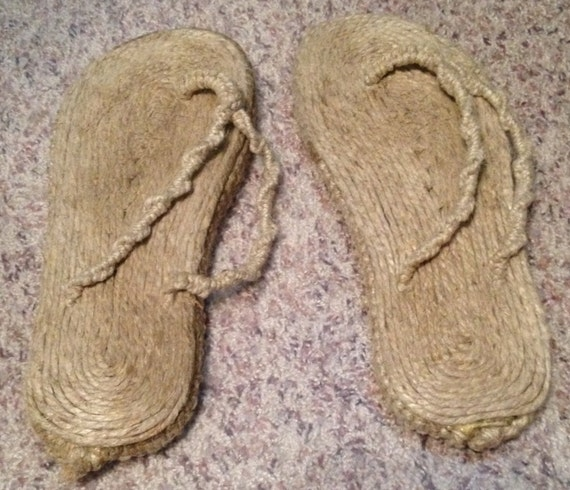 f46947ef9f4b4b Items similar to Hemp Flip Flop Sandles on Etsy