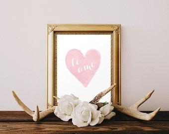DIGITAL Te Amo Spanish Nursery Print, I Love You Nursery Wall Decor, Spanish Pink Heart Girl Nursery, Pink Printable Wall Art - ANY SIZE
