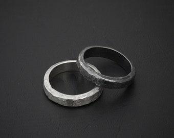 YIN/YANG XL massivem Sterling Silber handgeschmiedet minimalistischen Statement ring