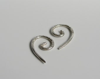 HELIX Solid sterling silver 10g ear tapers Fibonacci sequence inspired  minimalist design
