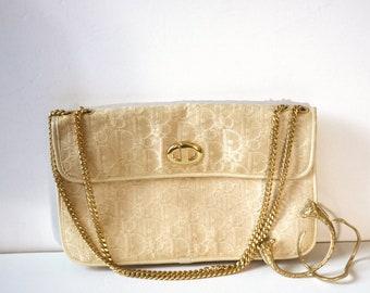 4408f13474 Christian Dior Vintage Logo Monogram Jacquard Clutch Bag