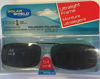 d8abe9ab89c Solar Shield 54 rec 8 lens Clip on Sunglasses 100% UVA UV