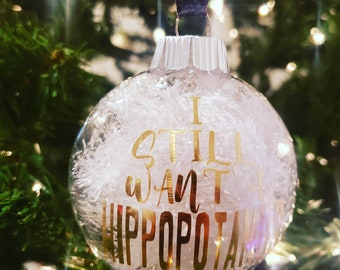 Hippopotamus Ornament