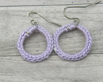 Small Hand Crocheted Earrings