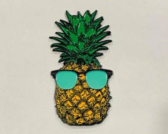 Pineapple Pin l Sunshine State of Mind l Enamel Pin