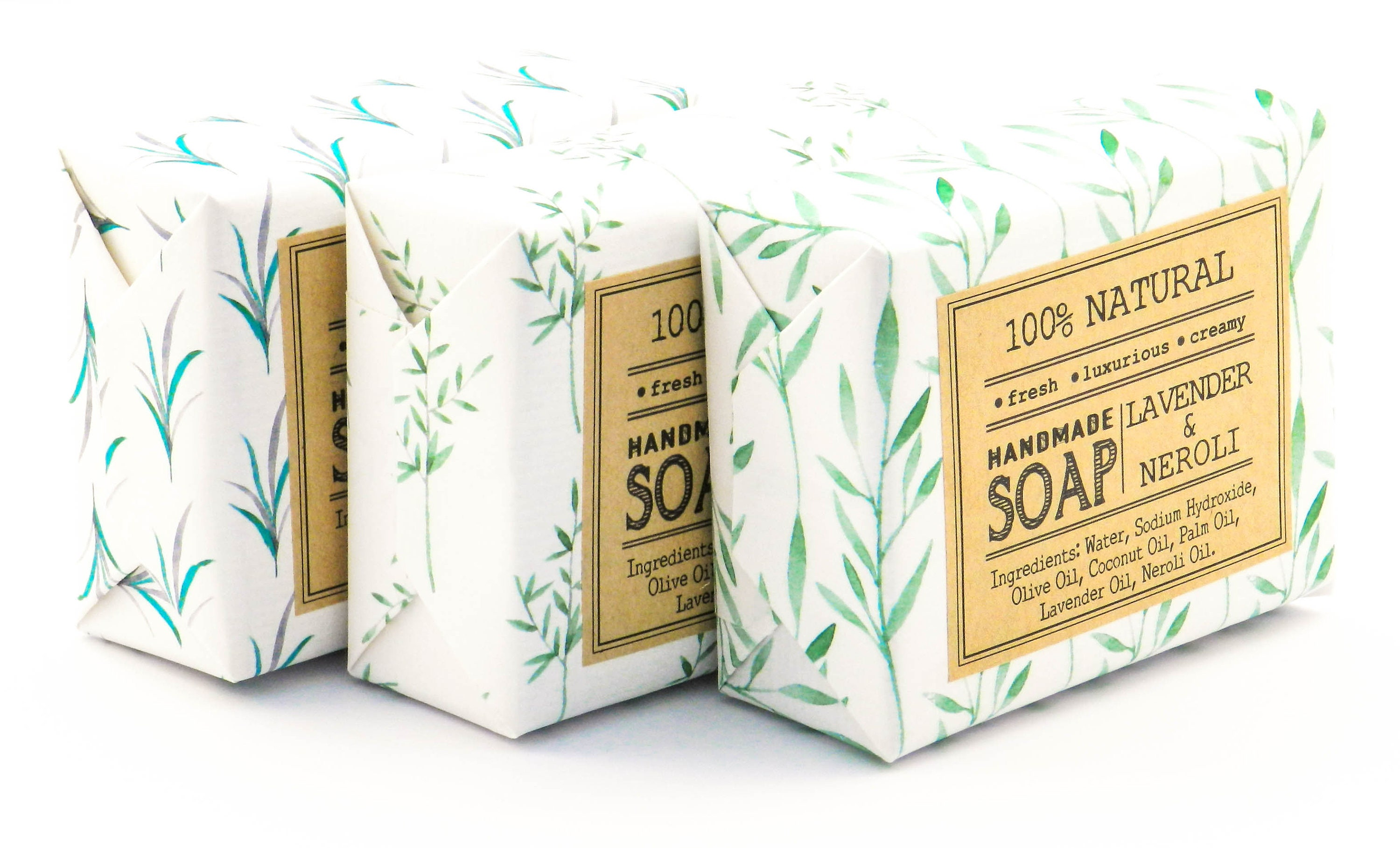 12 Handmade Botanical Soap/Candle Packaging Wrapping Kit//Wrapping ...