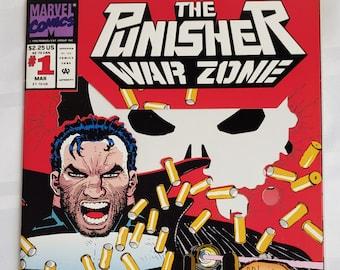 The Punisher War Zone # 1 original vintage Marvel Comics comic book retro comics first superhero