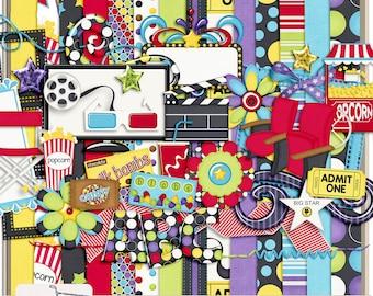 Movie Night Digital Scrapbook Kit