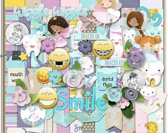 SMILE Toothfairy Dentist Braces Digital Scrapbook Kit