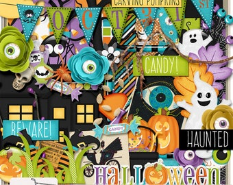 October 31st Halloween Trick Or Treat Digital Scrapbook Kit