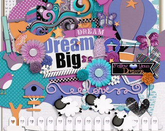 Dream Big Digital Scrapbook Kit