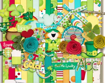 Call Me Lucky St. Patrick's Day Digital Scrapbook Kit