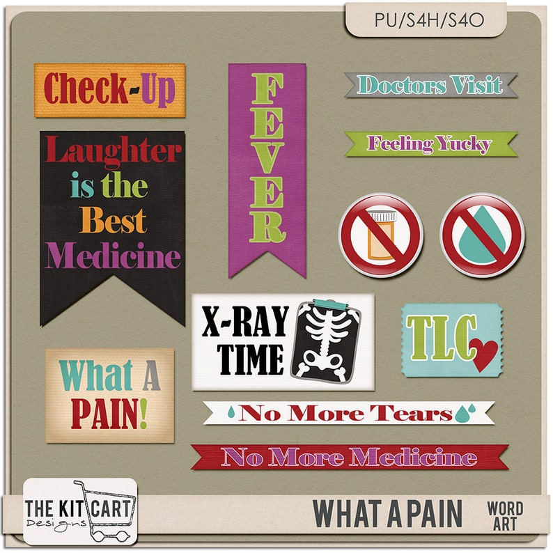 What A Pain Doctor Digital Scrapbook Word Art