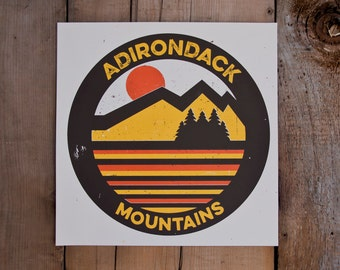 Adirondack Mountains // Handmade Screen Print