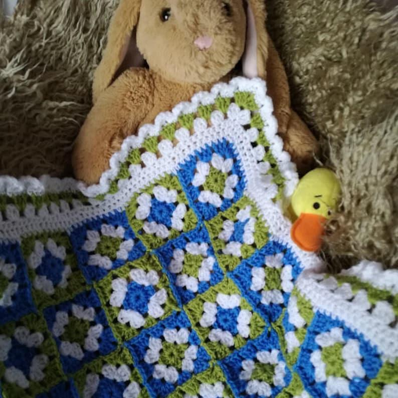 Hospital Blanket Handmade Baby Blanket Pram Pushchair Blanket Ready to Post Baby Travel Blanket First Blanket Newborn 26 x 22 inches