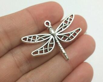 BULK 20 Copper Tone Dragonfly Charms BC1542