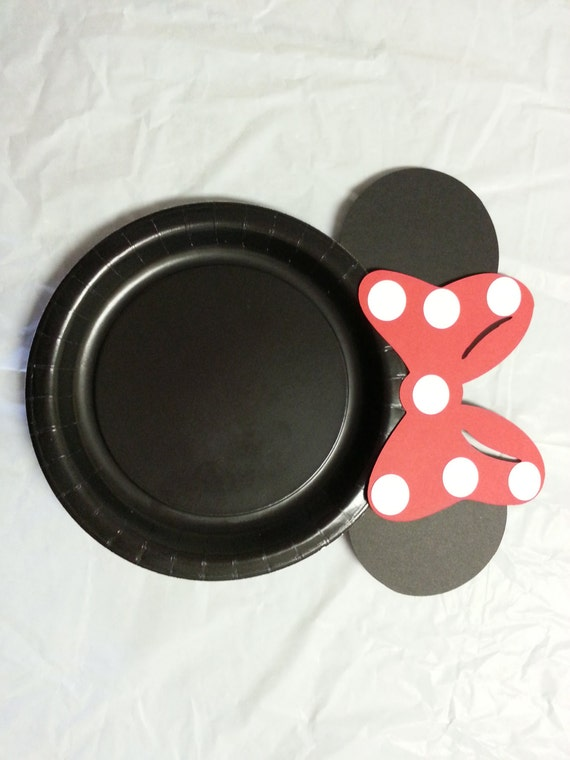 & Minnie Mouse Birthday Party Cake Plates red bow set of 12