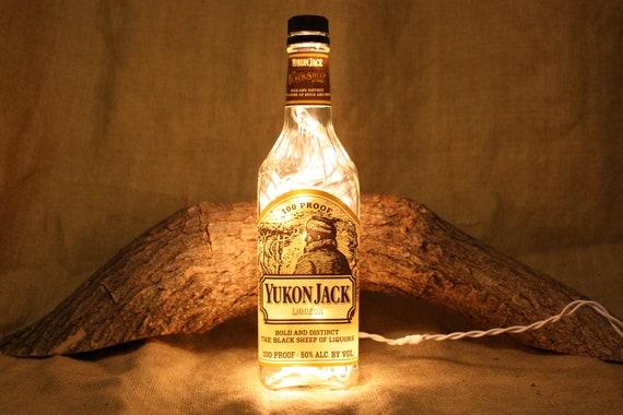 Liquor Bottle Light Upcycled Yukon Jack Liquor Bottle Decor Etsy