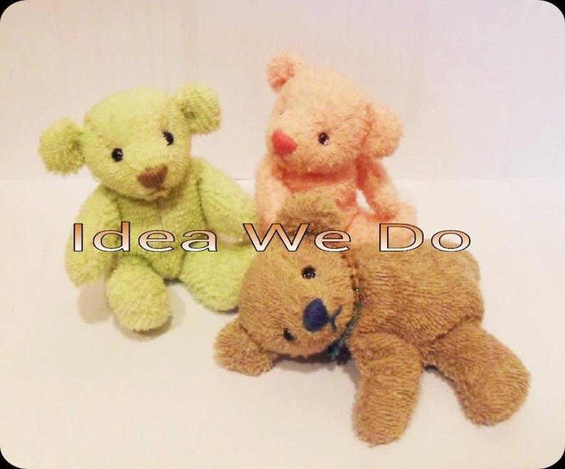 PDF  Sit Teddy Bear size M : Bear pattern only image 0