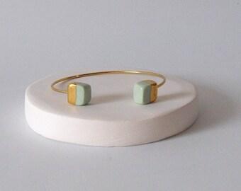 Bracelet buckets, Porcelain, Ceramics, Ceramic Jewelery