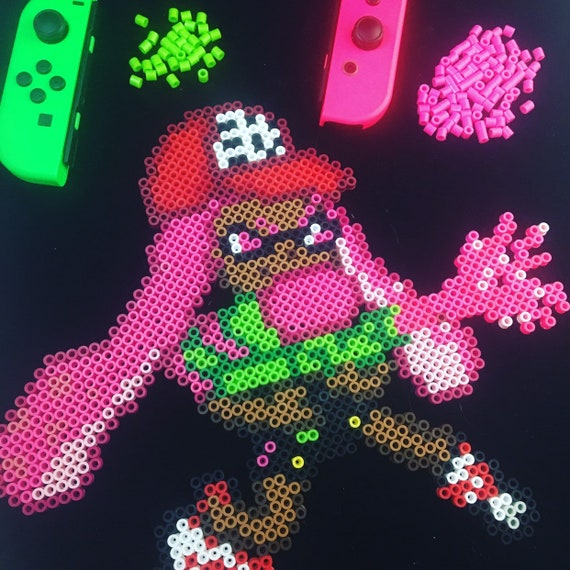 Splatoon Perler Nintendo Bead Smash Bros Inkling Video Game 8bit Pixel Art