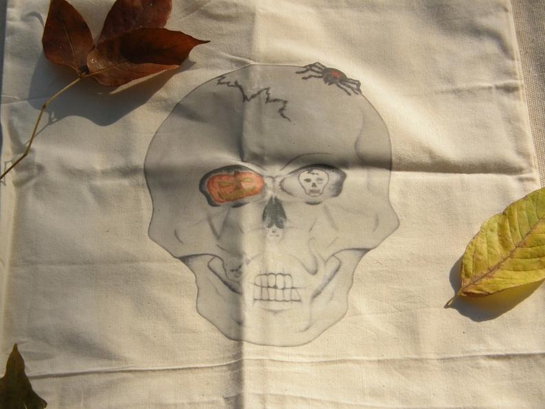 Canvas Skull Tote