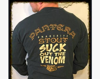 1997 Pantera Snakebite Stout Long Sleeve Original Concert TShirt fdd6761c7a6b