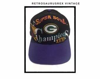 bec17a1b Vintage 1997 Green Bay Packers Superbowl XXXI Championship Snapback Cap; Super  Bowl 31 Packers Baseball Cap