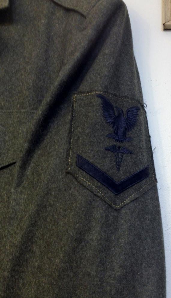 USN Corpsman 36 Jacket 1950's 38 Class Size Blend Alpha Corpsman Small Greens Navy USMC Wool USMC 3rd Orlon Size Chevron 1960's zw4TpqO