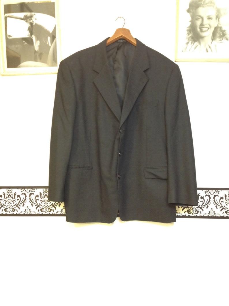 Vintage Professor Hipster Blazer Big /& Tall Size 50  52 1980/'s Black Checkered Wool Dr Who Rockabilly Blazer by Albert Nipon Sports Coat