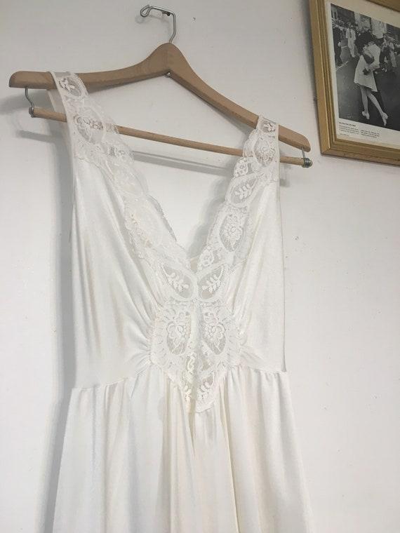 Olga Lingeri Olga Large Wedding Vintage Vintage White 92280 Bombshell Antique Nightgown Olga Boudoir Size Teddy Bridal Length Floor Style FUaxqRFO