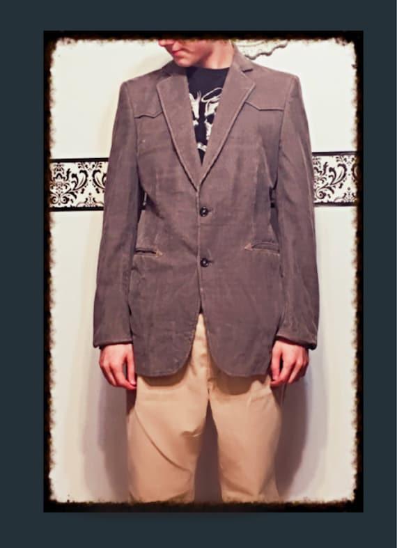 1980 ' s manteau sport velours côtelé marron clair cacao par Campus esprit, taille 40R Medium, 80 ' s en velours côtelé professeur Blazer, veste Hipster des 80 ' s Dr Who