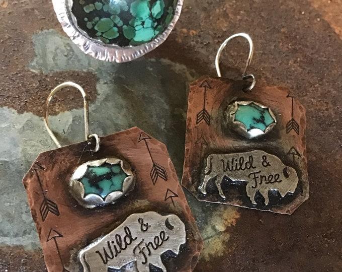 Reserved for Rhetta custom buffalo earrings