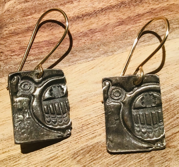 Rustic Quail earrings by Weathered Soul Jewelry,bird lover,Silver,small gift item,crafted each one by hand,USA made,birds,quail
