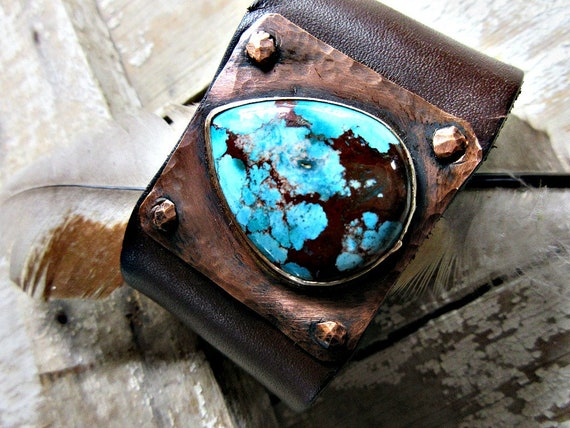 Let me make you a custom cuff bracelet by Weathered Soul. You pick stone and leather!!