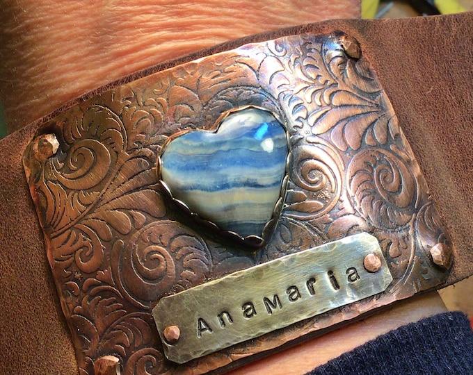 Custom made name cuff by Weathered soul