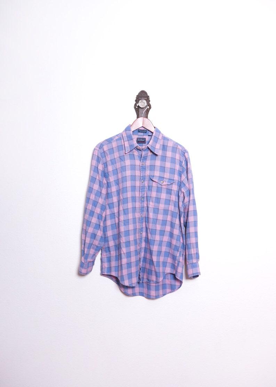 80s Purple Shirt \\\\ Thin Soft Shirt \\\\ 90s Flannel \\\\ Plaid Shirt \\\\ Grunge Shirt \\\\ Faded Top \\\\ Boyfriend Surf Shirt \\\\ Grunge Clothing