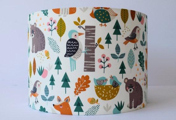 Woodland Animals Lamp Shade Woodland Adventure Nursery Light Etsy