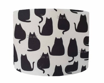 Black Cat Lamp Shade Ceiling, Cat Silhouette, Black Cat Home Decor Gifts, Cat Table Lamp Shades, Cat Lover Gifts Women, Ceiling Pendant
